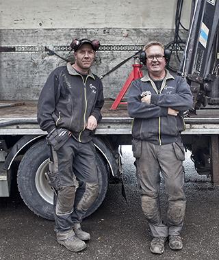 Micke Hägglund och Lars Göran Mellberg