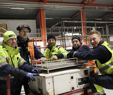 Från vänster: Tommy Johansson, Johan Pettersson, Christian Bengtsson, Peter Andersson och Johan Wickell.