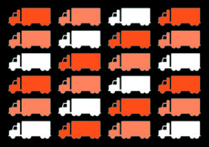 Lastbilar, grafisk bild