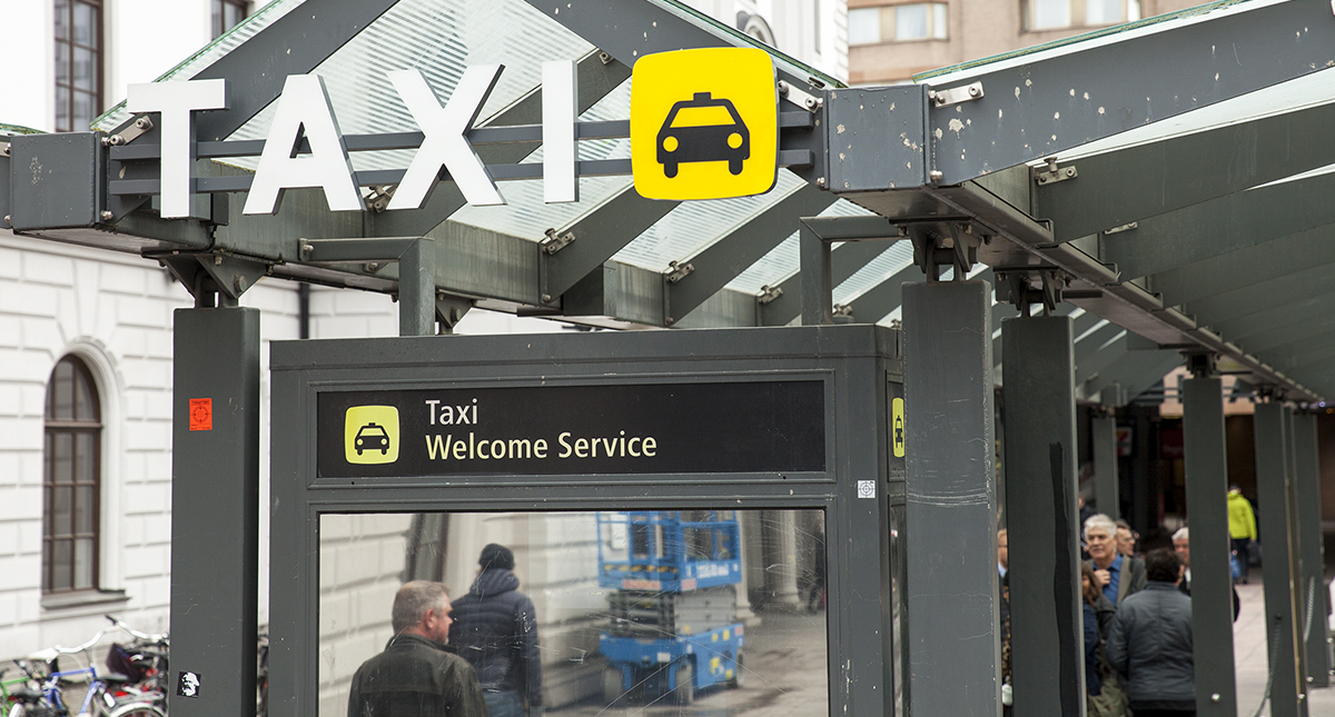 Taxihållplatsen vid Centralstationen