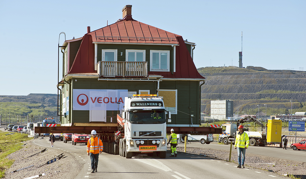 Husflytt i Kiruna