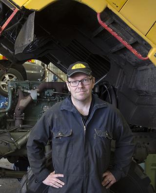 Anders Stenlund, ramparbetare i Arvidsjaur.