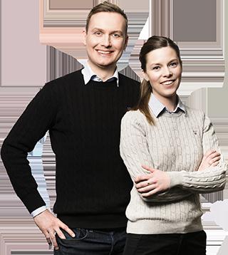 Johan Ernfors och Elisabeth Byström.