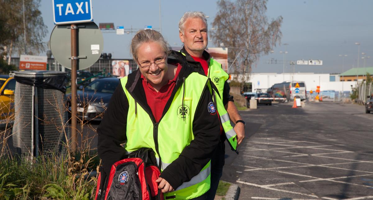 Pia Edvall och Bo Nilsson träffar taxiförare.