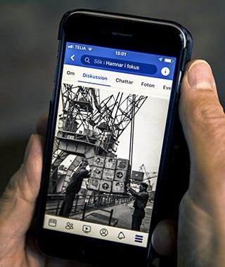 Facebookgruppen Hamnar i fokus visar gamla bilder från Helsingborgs hamn.
