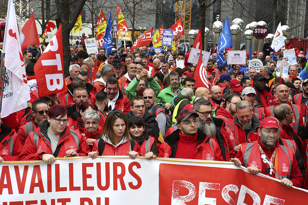 ETF-demonstration i Bryssel, 27 mars 2019