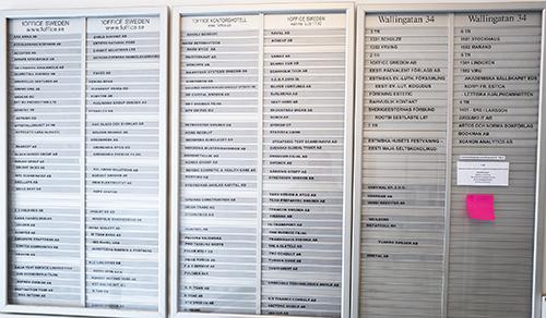 På Wallingatan 34 i centrala Stockholm kan företag köpa en adress. Närmare 100 bolag, många av dem med estnisk anknytning, finns registrerade här.