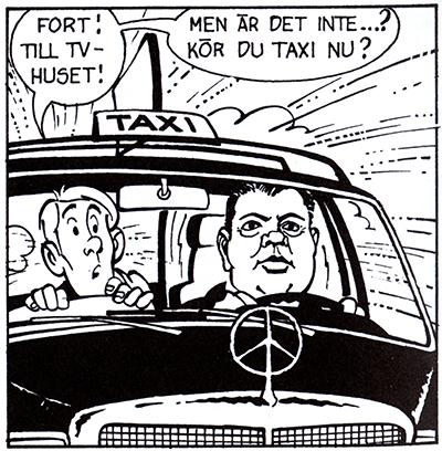 Sann fackbas eller fackpamp? Äldre chaufförer minns Transports legendariska Transportordförande Hans Ericson väl. 1980 tvingades han avgå efter en solresa till Kanarieöarna under LO:s bojkott av det Francostyrda Spanien. I serien har taxiföraren Ratte bytt plats med Ericsson. Text Magnus Knutsson och bild Ulf Jansson.